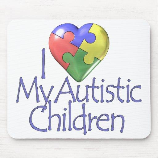 I Love My Autistic Children Mouse Mat