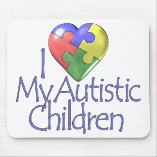 I Love My Autistic Children Mouse Pad