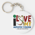 I Love My Autistic Cousin 2 AUTISM AWARENESS Keychain