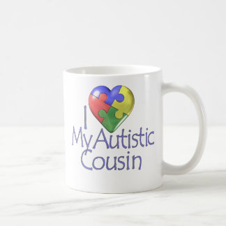 I Love My Autistic Cousin Coffee Mug