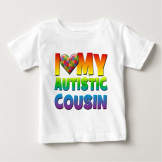 I Love My Autistic Cousin.png Baby T-Shirt