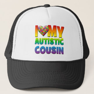I Love My Autistic Cousin.png Trucker Hat