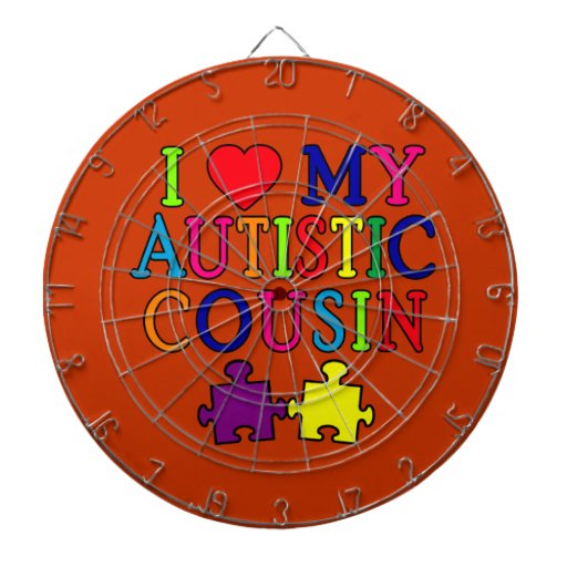 I Love My Autistic Cousin T-shirt Dart Boards