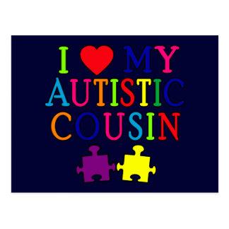 I Love My Autistic Cousin T-shirt Postcards