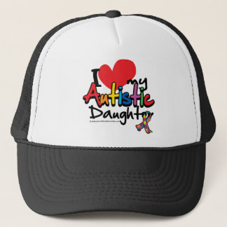 I Love My Autistic Daughter Trucker Hat