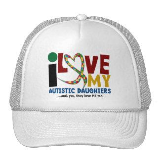 I Love My Autistic Daughters 2 AUTISM AWARENESS Mesh Hats
