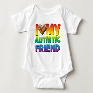 I Love My Autistic Friend.png Baby Bodysuit