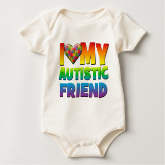 I Love My Autistic Friend.png Baby Bodysuit