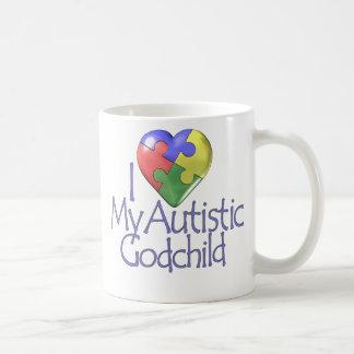 I Love My Autistic Godchild Coffee Mug