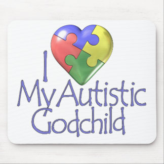 I Love My Autistic Godchild Mouse Pad