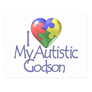 I Love My Autistic Godson Postcard