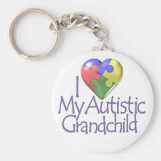 I Love My Autistic Grandchild Basic Round Button Keychain