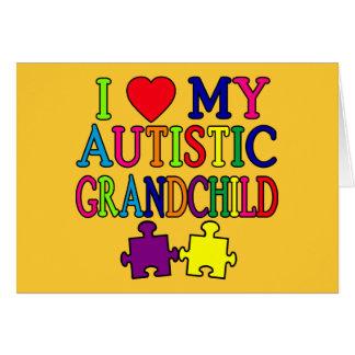I Love My Autistic Grandchild Cards
