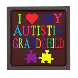 I Love My Autistic Grandchild Jewelry Box