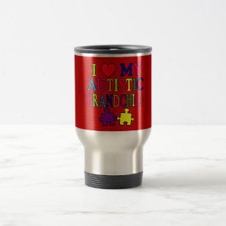 I Love My Autistic Grandchild Travel Mug