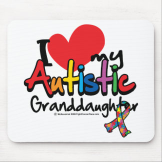 I Love My Autistic Granddaughter Mouse Pad
