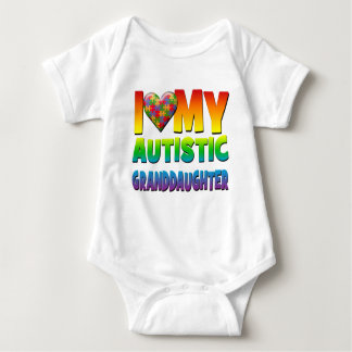I Love My Autistic Granddaughter.png Baby Bodysuit