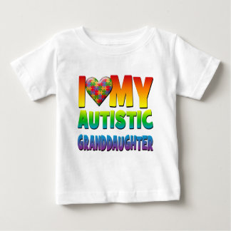 I Love My Autistic Granddaughter.png Baby T-Shirt