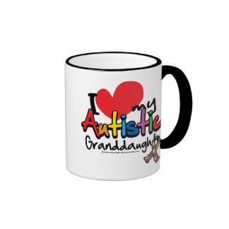I Love My Autistic Granddaughter Ringer Mug