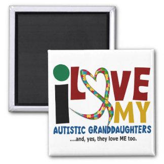 I Love My Autistic Granddaughters 2 AUTISM Magnet