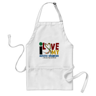 I Love My Autistic Grandkids 2 AUTISM AWARENESS Adult Apron