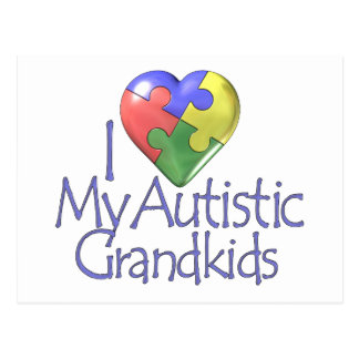I Love My Autistic Grandkids Postcard