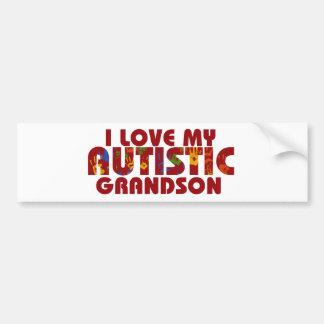 I Love my Autistic Grandson Bumper Sticker