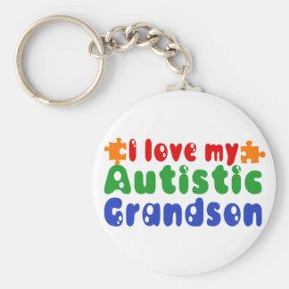 I love my Autistic Grandson Keychain