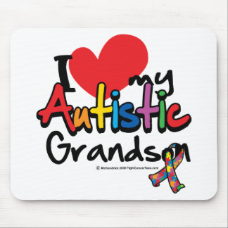 I Love My Autistic Grandson Mouse Pad