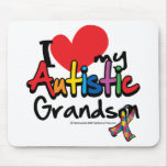 I Love My Autistic Grandson Mouse Pads