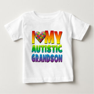 I Love My Autistic Grandson.png Baby T-Shirt