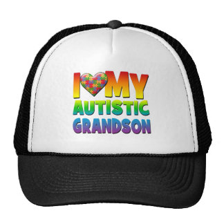 I Love My Autistic Grandson.png Trucker Hat