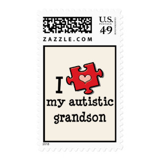 I Love My Autistic Grandson Stamps