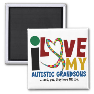 I Love My Autistic Grandsons 2 AUTISM AWARENESS Magnet