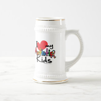 I Love My Autistic Kids Beer Stein