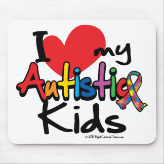 I Love My Autistic Kids Mouse Pad