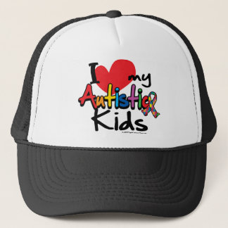 I Love My Autistic Kids Trucker Hat