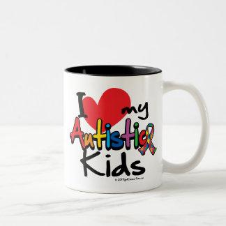 I Love My Autistic Kids Two-Tone Coffee Mug