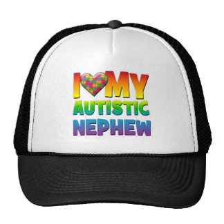 I Love My Autistic Nephew.png Trucker Hat