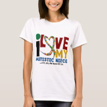 I Love My Autistic Niece 2 AUTISM AWARENESS T-Shirt