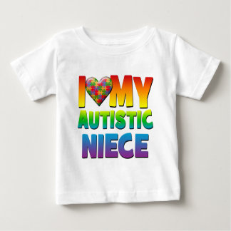 I Love My Autistic Niece.png Baby T-Shirt