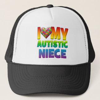I Love My Autistic Niece.png Trucker Hat