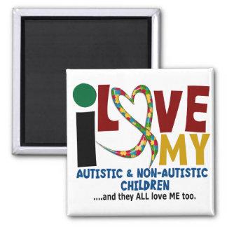 I Love My Autistic NonAutistic Children 2 AUTISM Refrigerator Magnets