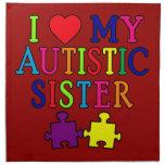 I Love My Autistic Sister Cloth Napkins