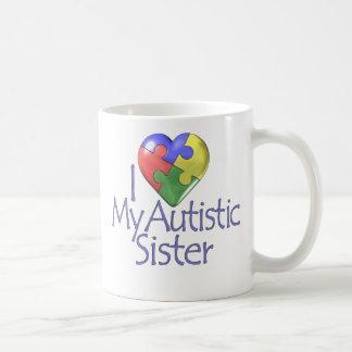 I Love My Autistic Sister Coffee Mug