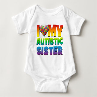I Love My Autistic Sister.png Baby Bodysuit