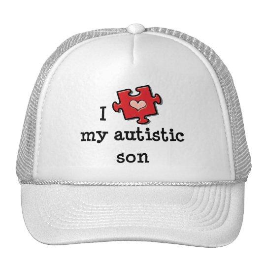 I Love My Autistic Son Cap Trucker Hat