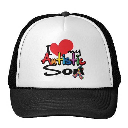 I Love My Autistic Son Mesh Hat