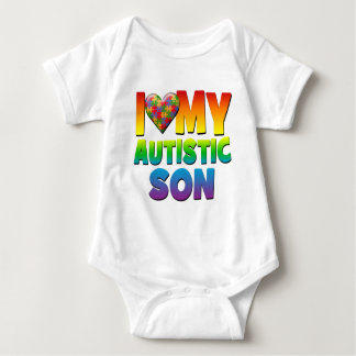 I Love My Autistic Son.png Baby Bodysuit