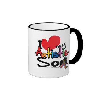 I Love My Autistic Son Ringer Mug